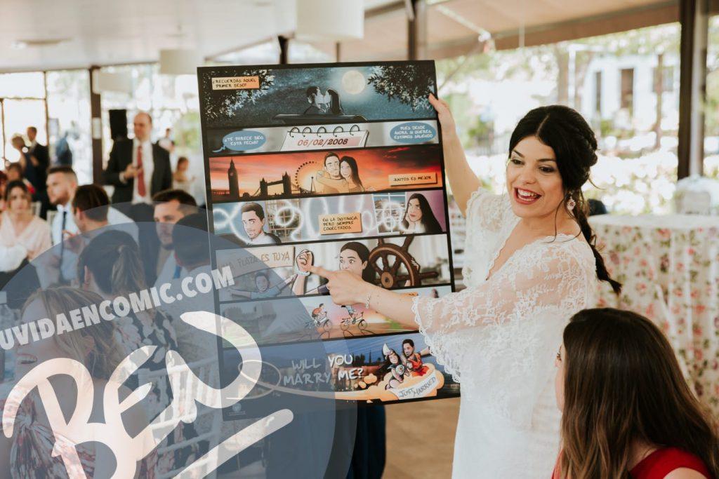 """Cómic personalizado - """"Regalo de boda con Nuestra historia de Amor en viñetas"""" - www.tuvidaencomic.com - Regalos personalizados - Bodas personalizadas - Bodas originales - Tu Vida en Cómic - TESTIMONIO 3"""