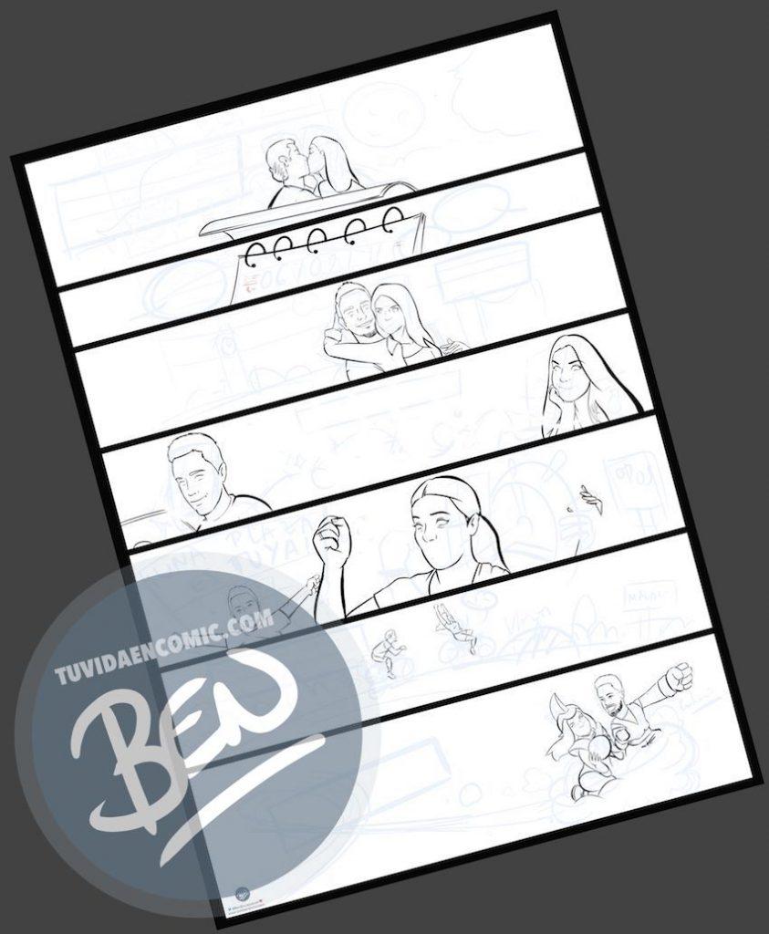 """Cómic personalizado - """"Regalo de boda con Nuestra historia de Amor en viñetas"""" - www.tuvidaencomic.com - Regalos personalizados - Bodas personalizadas - Bodas originales - Tu Vida en Cómic - a2"""