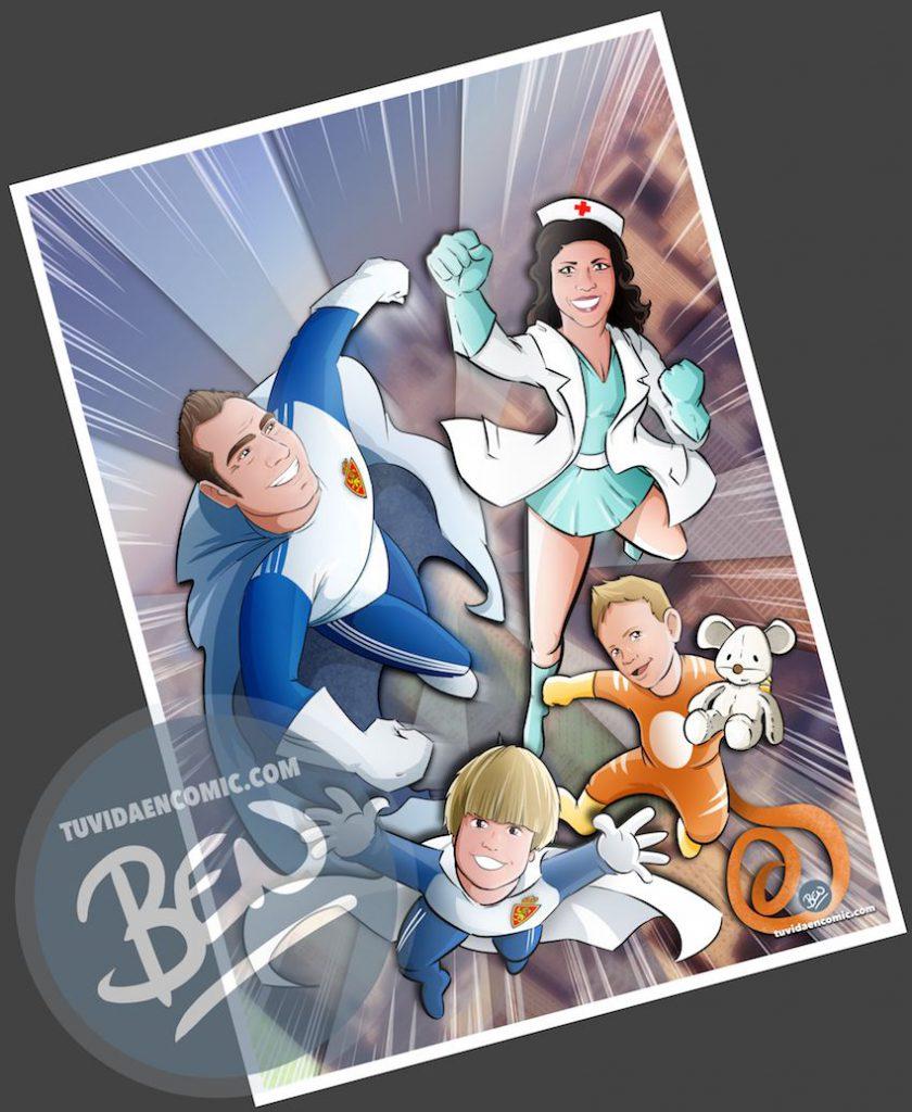 Ilustración - Regalo del día del Padre personalizado - Portada de cómic - www.tuvidaencomic.com - Regalos personalizados - Tu Vida en Cómic - BEN - 3