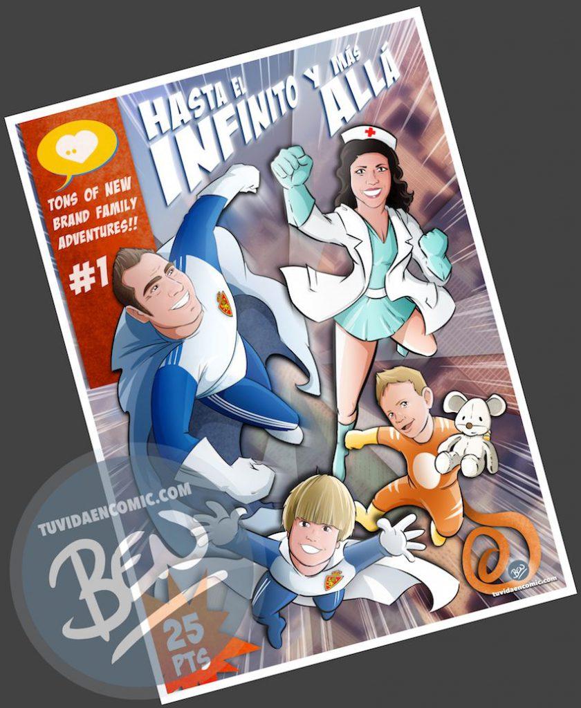 Ilustración - Regalo del día del Padre personalizado - Portada de cómic - www.tuvidaencomic.com - Regalos personalizados - Tu Vida en Cómic - BEN - 4