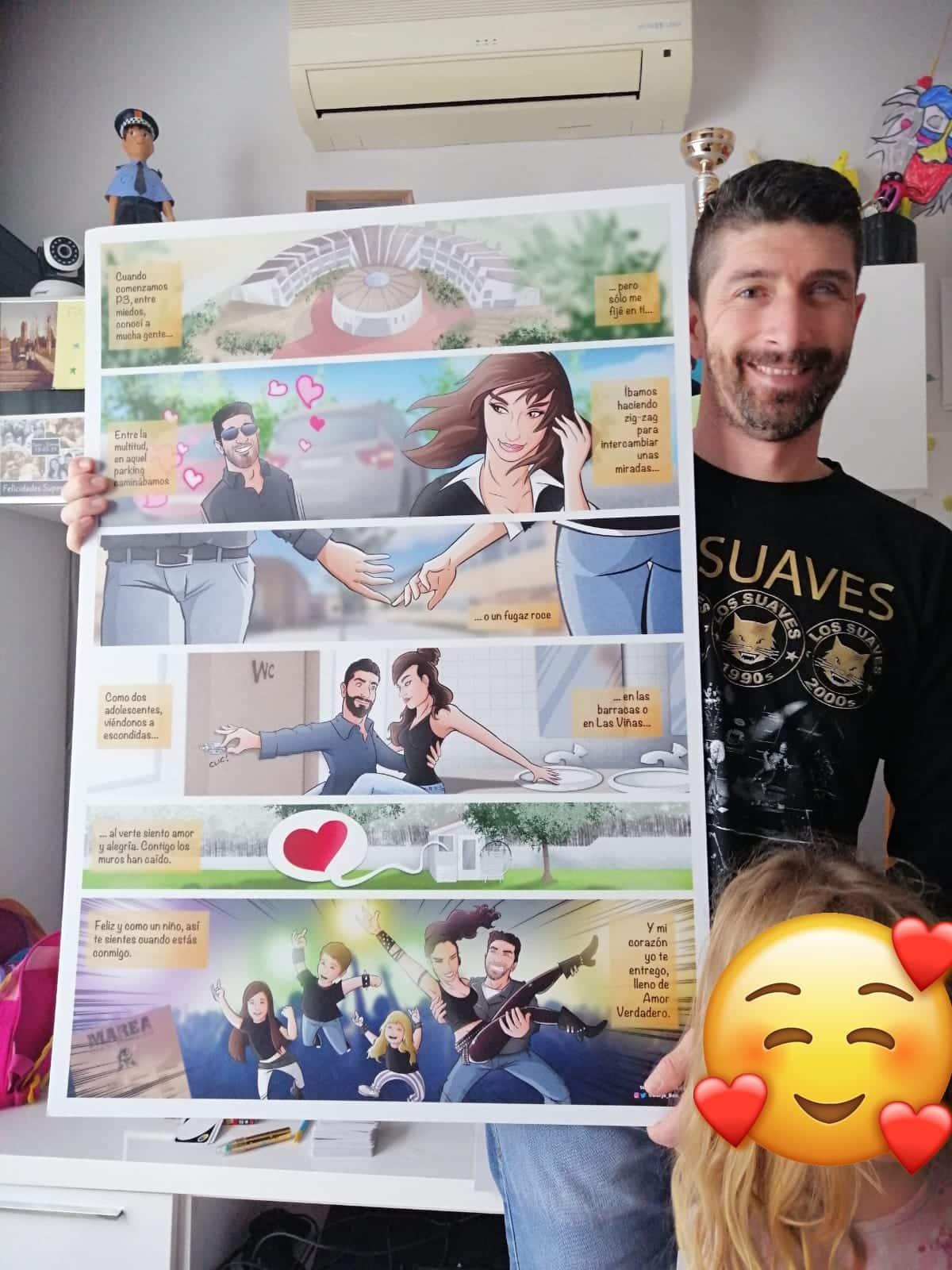 """Cómic personalizado - """"Así juntamos nuestras vidas"""" - Regalo personalizado romántico - www.tuvidaencomic.com - Tu Vida en Cómic - Regalo personalizado romántico - BEN - TESTIMONIO"""