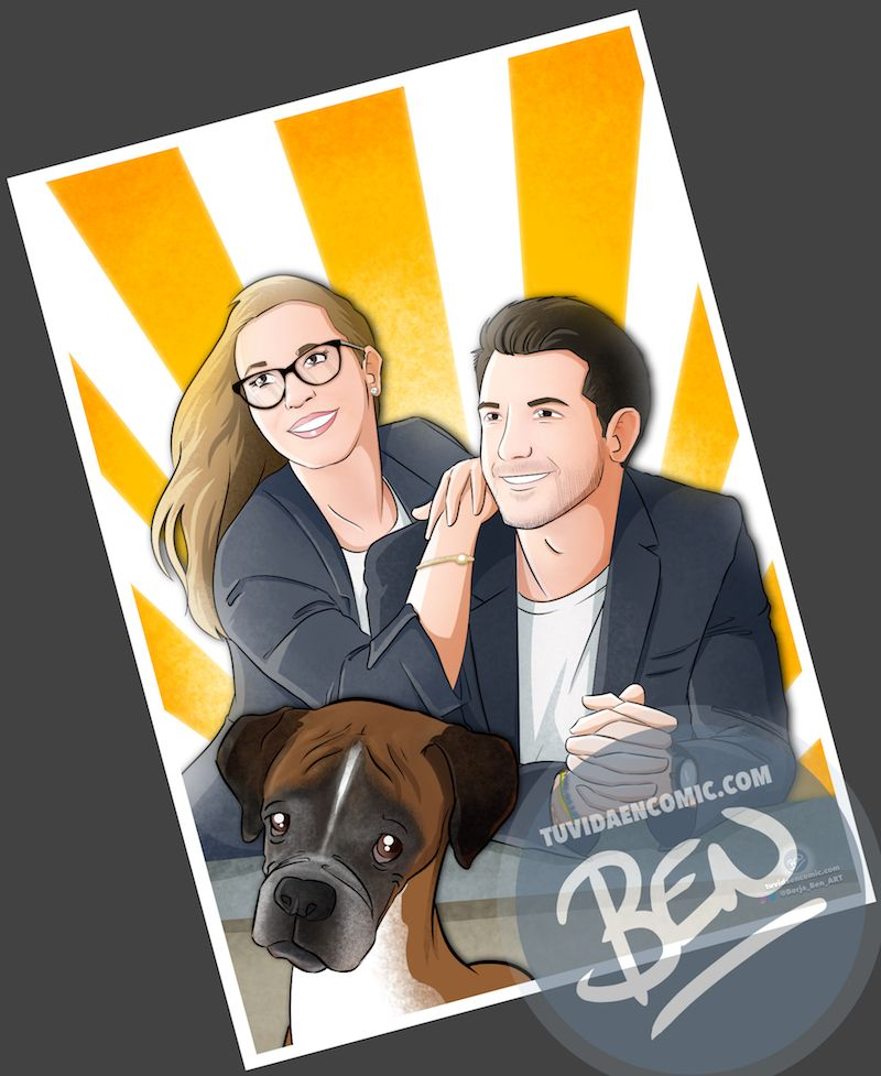 Regalo de cumpleaños personalizado - Caricatura Familiar - www.tuvidaencomic.com - Tu Vida en Cómic - Caricaturas Personalizadas - BEN - Regalo de cumpleaños original - 3