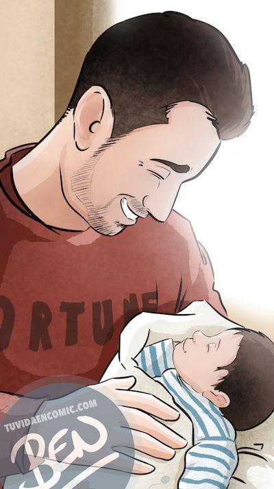 Regalo del día del Padre personalizado - Momentos de Padre e hijo - Composición de ilustraciones - www.tuvidaencomic.com - Tu Vida en Cómic - BEN - Caricaturas personalizadas - Regalos Personalizados - 4