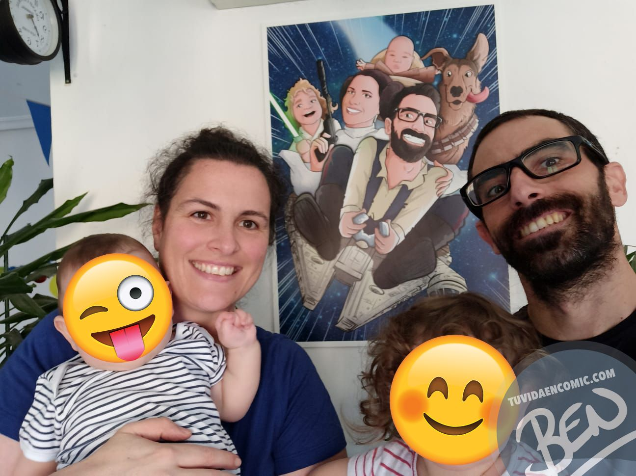 Caricatura Familia star wwars - tu vida en cómic - tuvidaencomic.com - Borja_Ben_ART - Regalo - ilustración _ Testimonio5