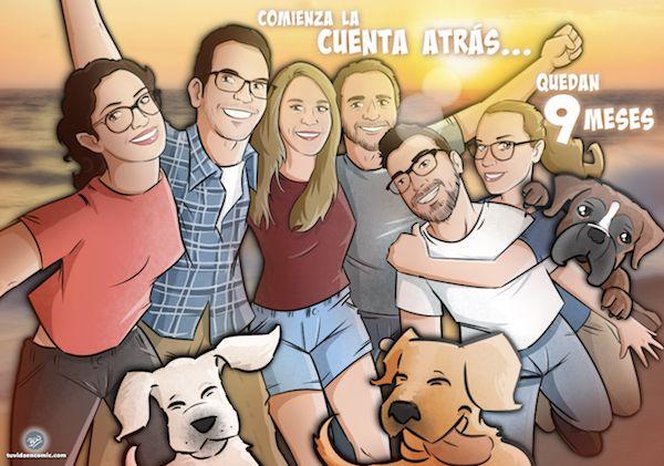 Ejemplos - Ilustraciones - Caricaturas personalizadas - Regalos personalizados - Regalos originales - Tu Vida en Cómic - BEN - www.tuvidaencomic.com - 8