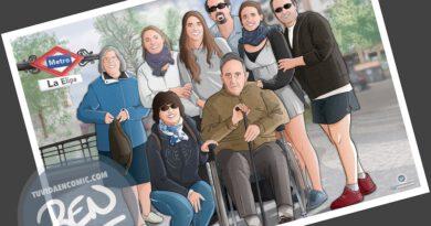 Ilustración de familia - Todos con el abuelo - Caricatura familiar - Regalo personalizado - Tu Vida en Cómic - tuvidaencomic.com - 4