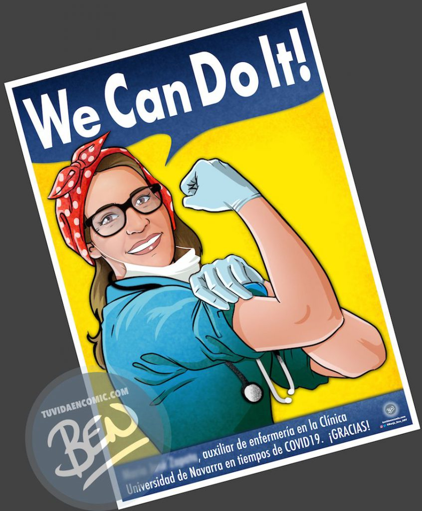 We Can do it - Tu Vida en Cómic - Borja_Ben_ART - BEN - Santitarios coronavirus - covd - 2