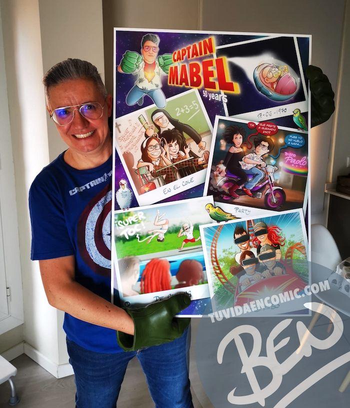 """Cómic personalizado - """"Captain Mabel"""" - Regalo de cumpleaños personalizado - www.tuvidaencomic.com - Caricaturas - Borja_Ben_ART - Testimonio 2"""