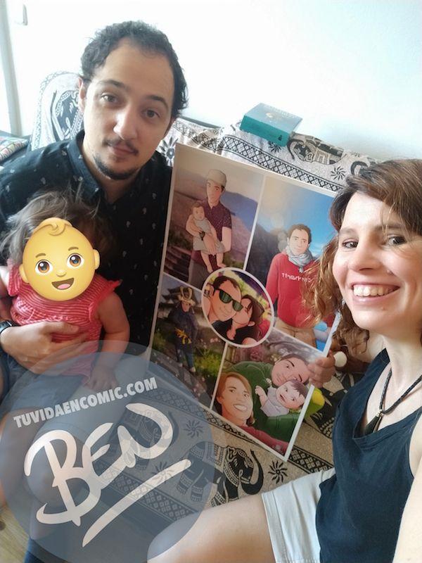 """Composición de ilustraciones """"Escenas de familia"""" – Regalo de cumpleaños personalizado – Tu Vida en Cómic - Testimonio clientes satisfechos - 3"""