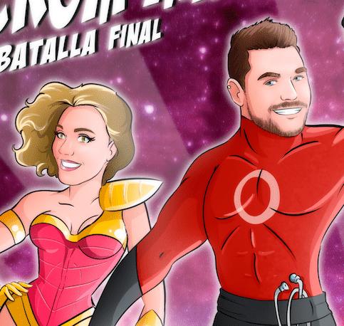 """Ilustración de pareja – """"¡Somos Superhéroes!"""" – Caricatura personalizada de pareja - www.tuvidaencomic.com - regalo romántico original - regalo de aniversario personalizado - 7"""