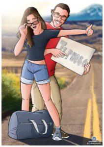 Ilustración de pareja - Tu vida en cómic