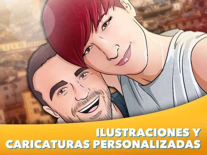 1 - Ilustraciones y Caricaturas personalizadas - www.tuvidaencomic.com