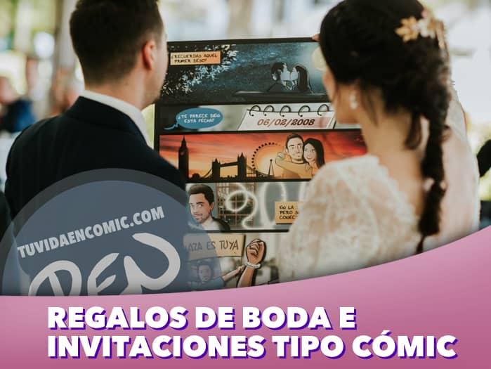 5 - Regalos de boda e invitaciones tipo cómic - www.tuvidaencomic.com