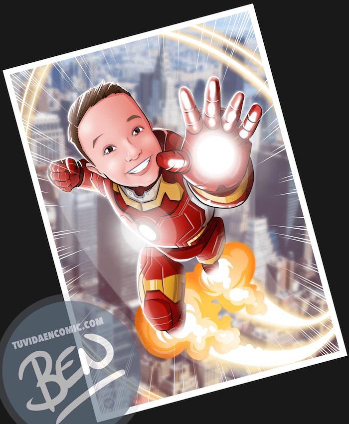 Ilustración infantil de superhéroe - caricatura infantil - superhéroe - regalos originales - www.tuvidaencomic.com 6