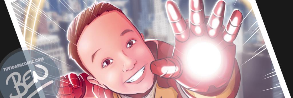 Ilustración infantil de superhéroe - caricatura infantil - superhéroe - regalos originales - www.tuvidaencomic.com 8