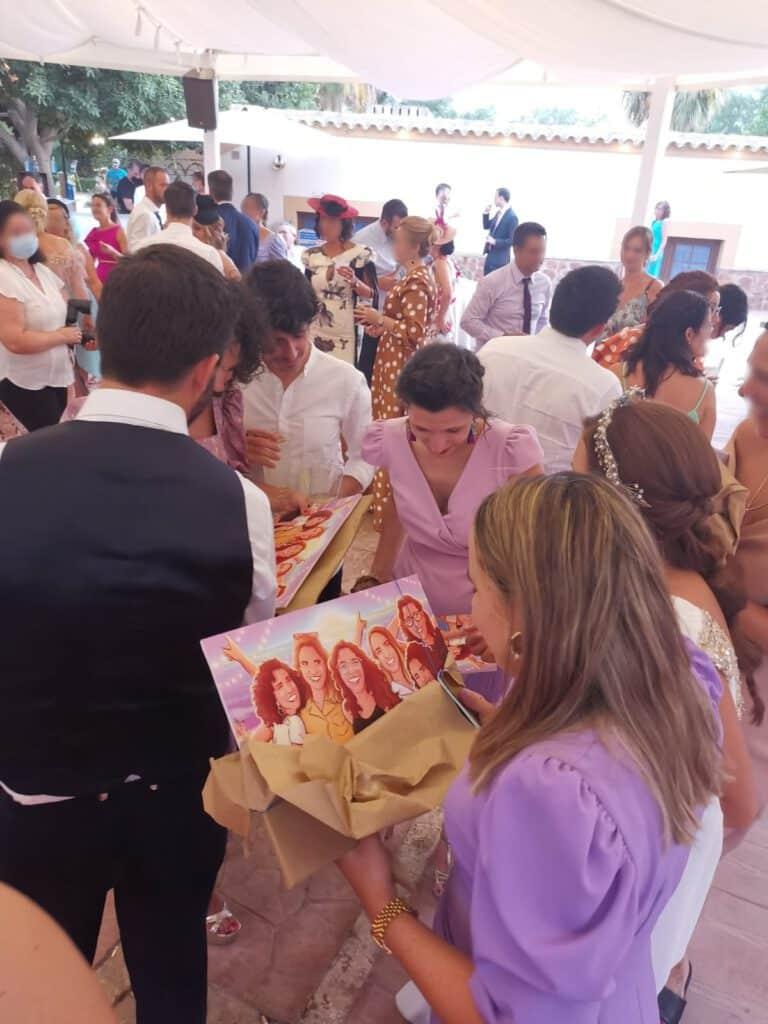 Ilustración de grupo - Regalo para las mejores amigas - Caricatura de grupo de amigas - www.tuvidaencomic.com - regalos personalizados - regalo de boda original - Testimonios-min