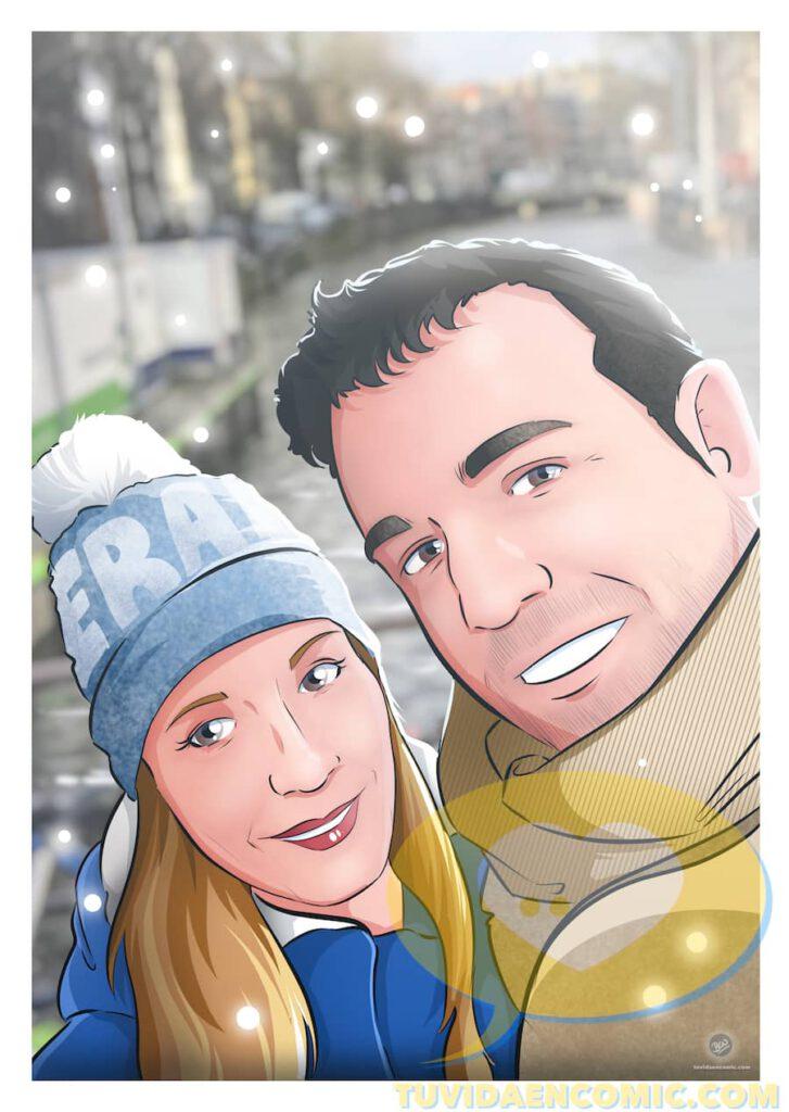 Composición de Ilustraciones - Porque te quiero - www.tuvidaencomic.com - Regalos románticos personalizados - arte personalizado - Regalo de aniverario personalizado - 4