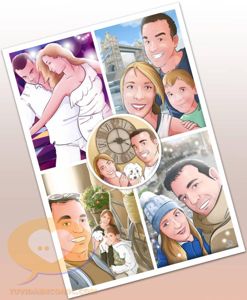 Composición de Ilustraciones - Porque te quiero - www.tuvidaencomic.com - Regalos románticos personalizados - arte personalizado - Regalo de aniverario personalizado - 5